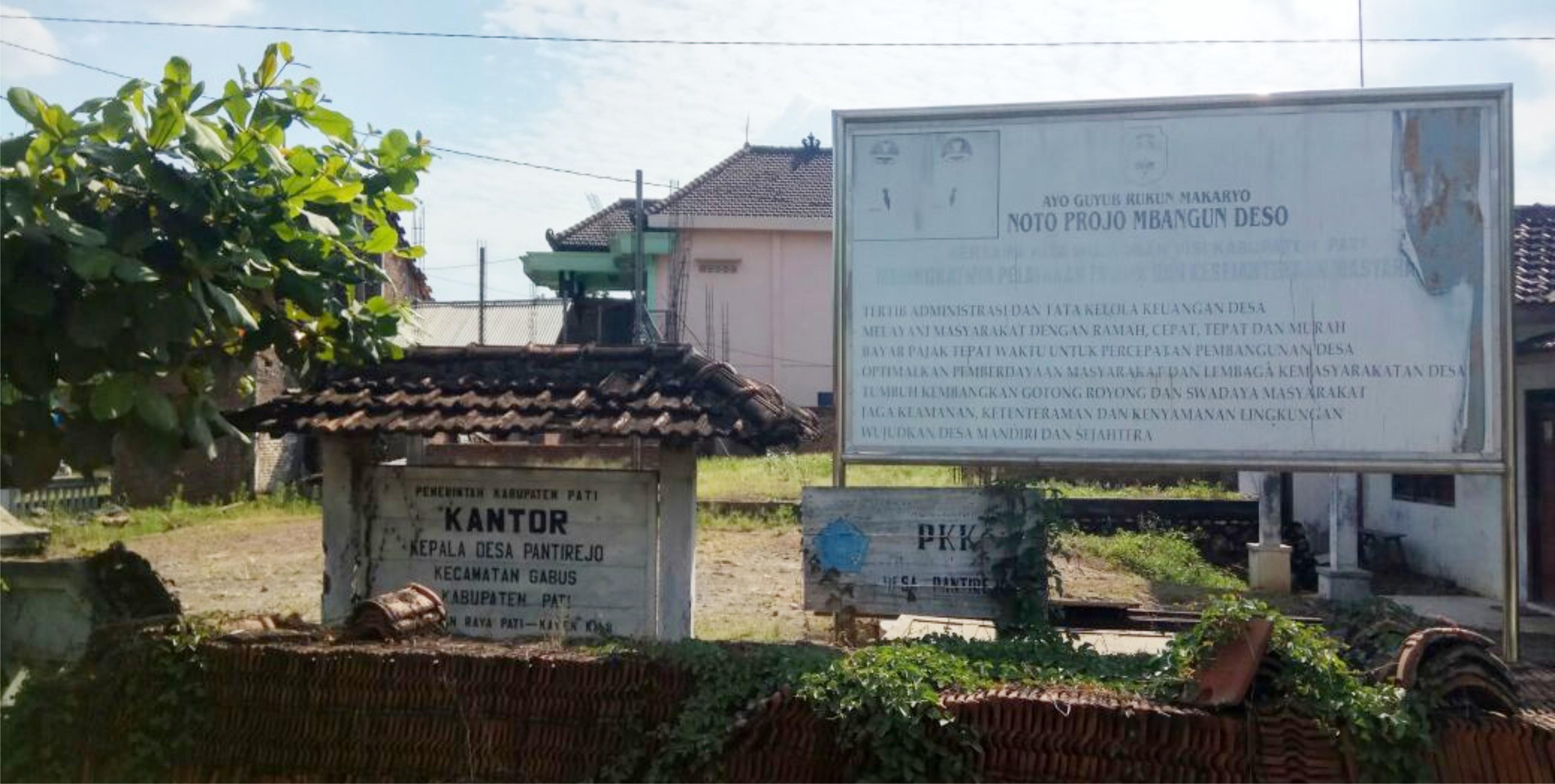 balai desa pantirejo mangkrak dua tahun 2